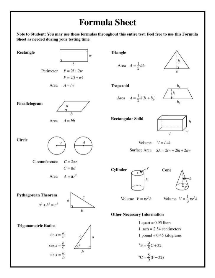 32 national 5 mathematics formula sheet 5 formula sheet national