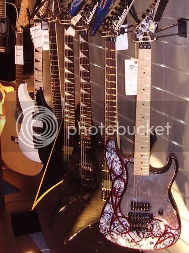 Charvel and Jackson guitars
