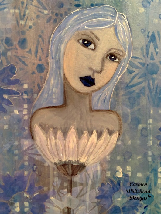 Winter Frost Girl Canvas - Carmen Whitehead Designs