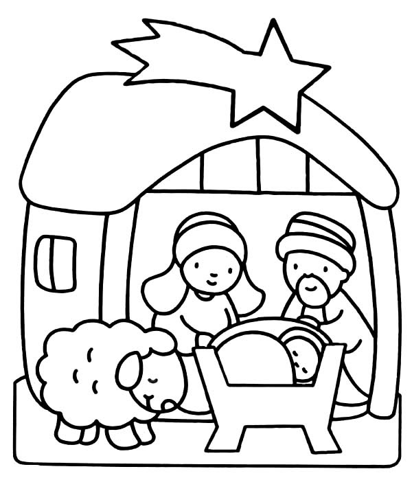 Baby Jesus Coloring Page