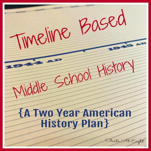 Timeline Based Middle School History {A Two Year American History Plan}