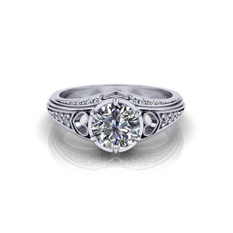 Filigree Heart Engagement Ring   Jewelry Designs