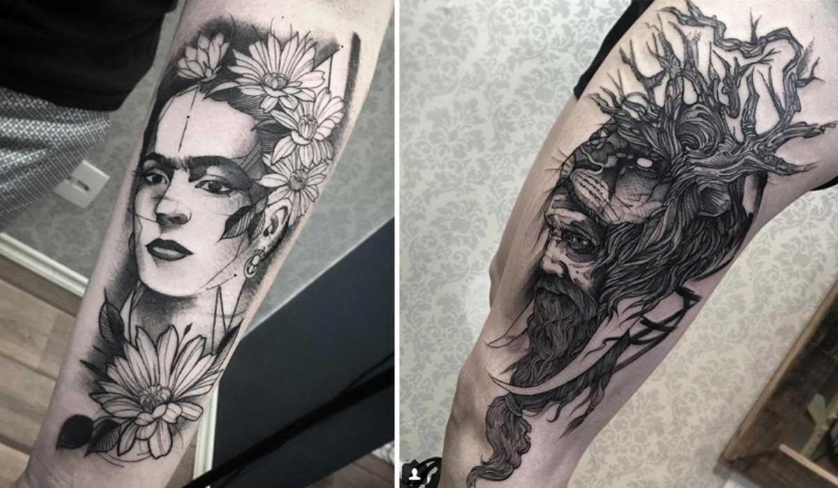 25 Excelentes Tatuajes En Blanco Y Negro De Fredao Oliveira Upsocl