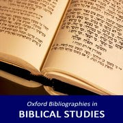 Oxford Bibliographies: Biblical Studies