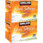Kirkland Signature Fabric Softener Sheets, 250-count, 2-pack