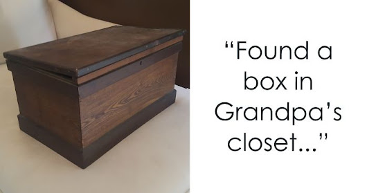 Girl Finds Old Box In Grandpa's Closet