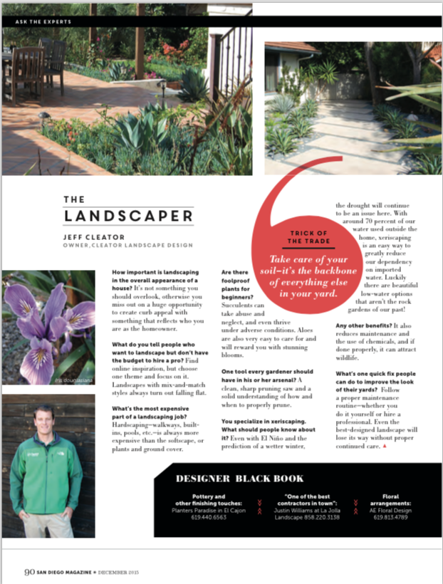 Xeriscape Archives Cleator Landscape Design Of San Diego