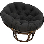 Blazing Needles MicroSuede Papasan Cushion Black