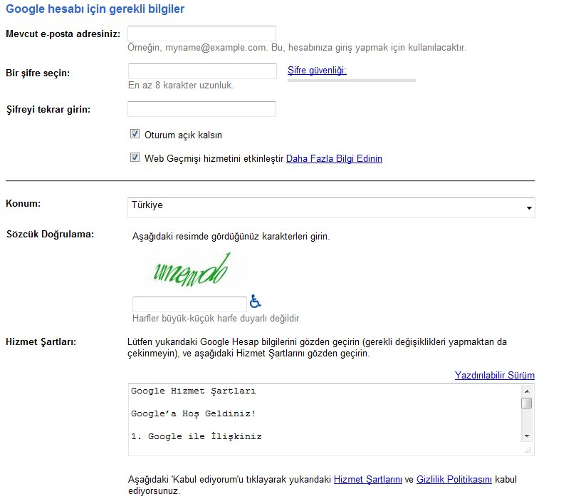Ücretsiz Gmail Hesabı Açma Resimli Anlatım