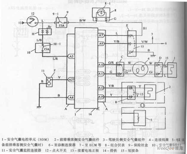 Air Bag Control System Schematic