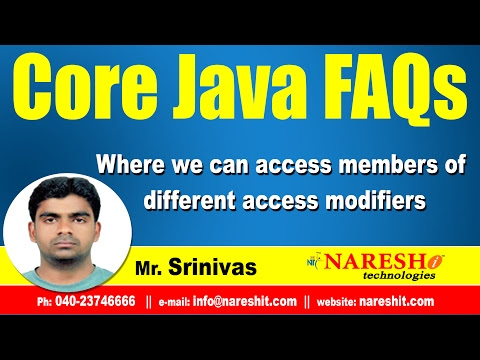 Where we can access members of different access modifiers - Mostly Asked Java Interview Questions