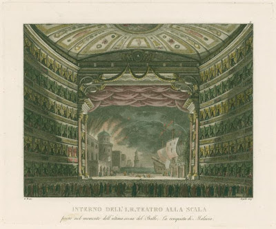 Interno dell' I. R. Teatro alla Scala