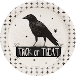 Trick or Treat Raven Plates - Halloween Party Supplies