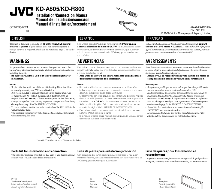 jvc car stereo user manual