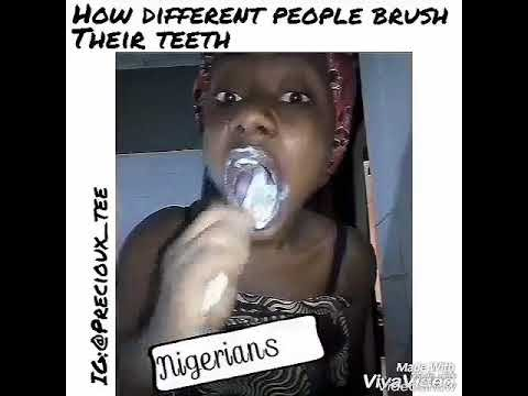 (comedy skit) How Americans and Nigerians Brush by Precioux_Tee