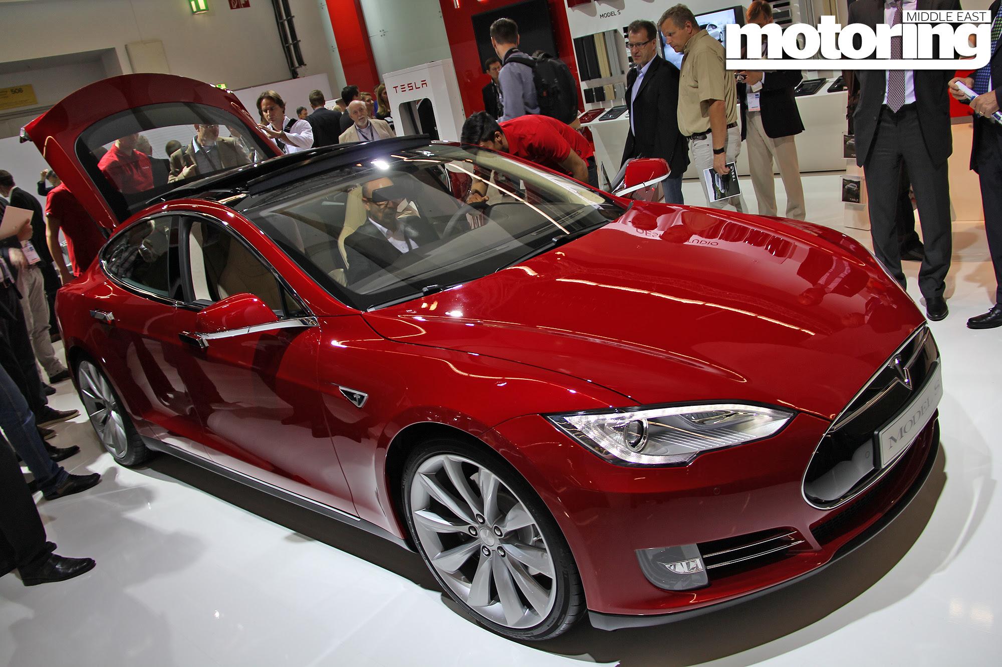 Frankfurt 2013 Tesla Model S Motoring Middle East Car