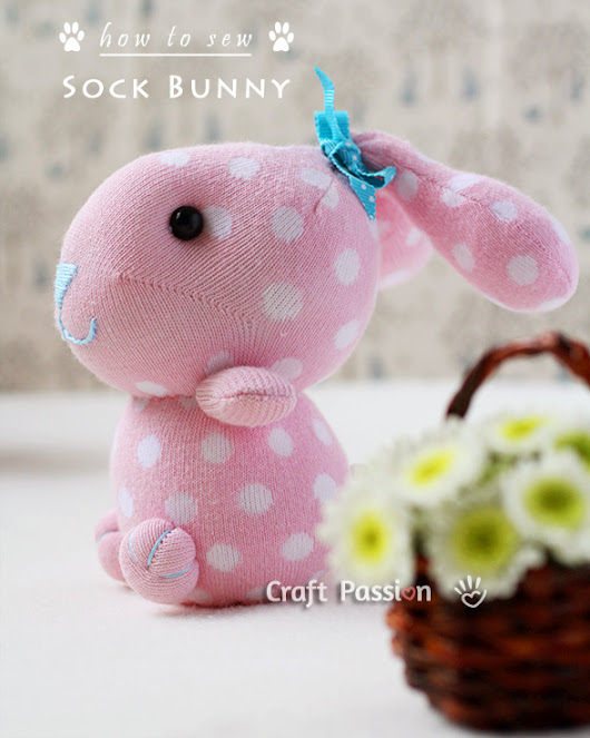 Sock Bunny - Free Sewing Pattern & Tutorial | Craft Passion