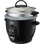 Oster DuraCeramic Titanium Infused 6-Cup Rice and Grain Cooker with Steamer