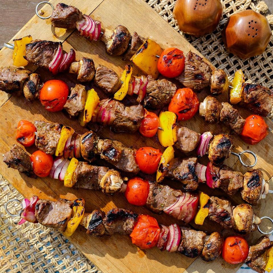 Grilled Beef & Vegetable Kebabs