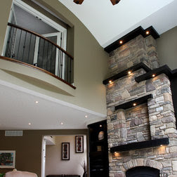 Sconces Over Fireplace