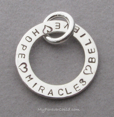 Believe-Hope-Miracles Charm
