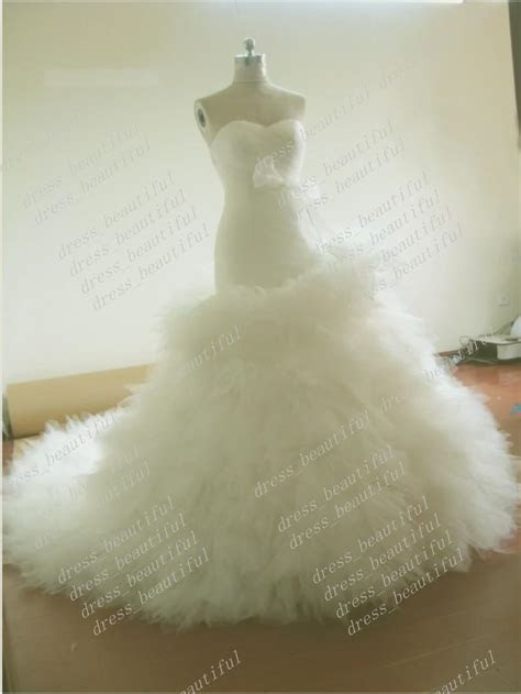 Custom Made Ball Gown Mermaid Strapless Sweetheart Tulle