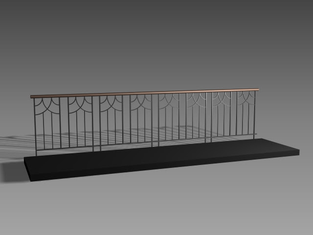 Balcony Railing Design 3d Model 3dsmax3dsautocad Files Free