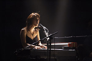 Vienna Teng performing at the Independent in S...