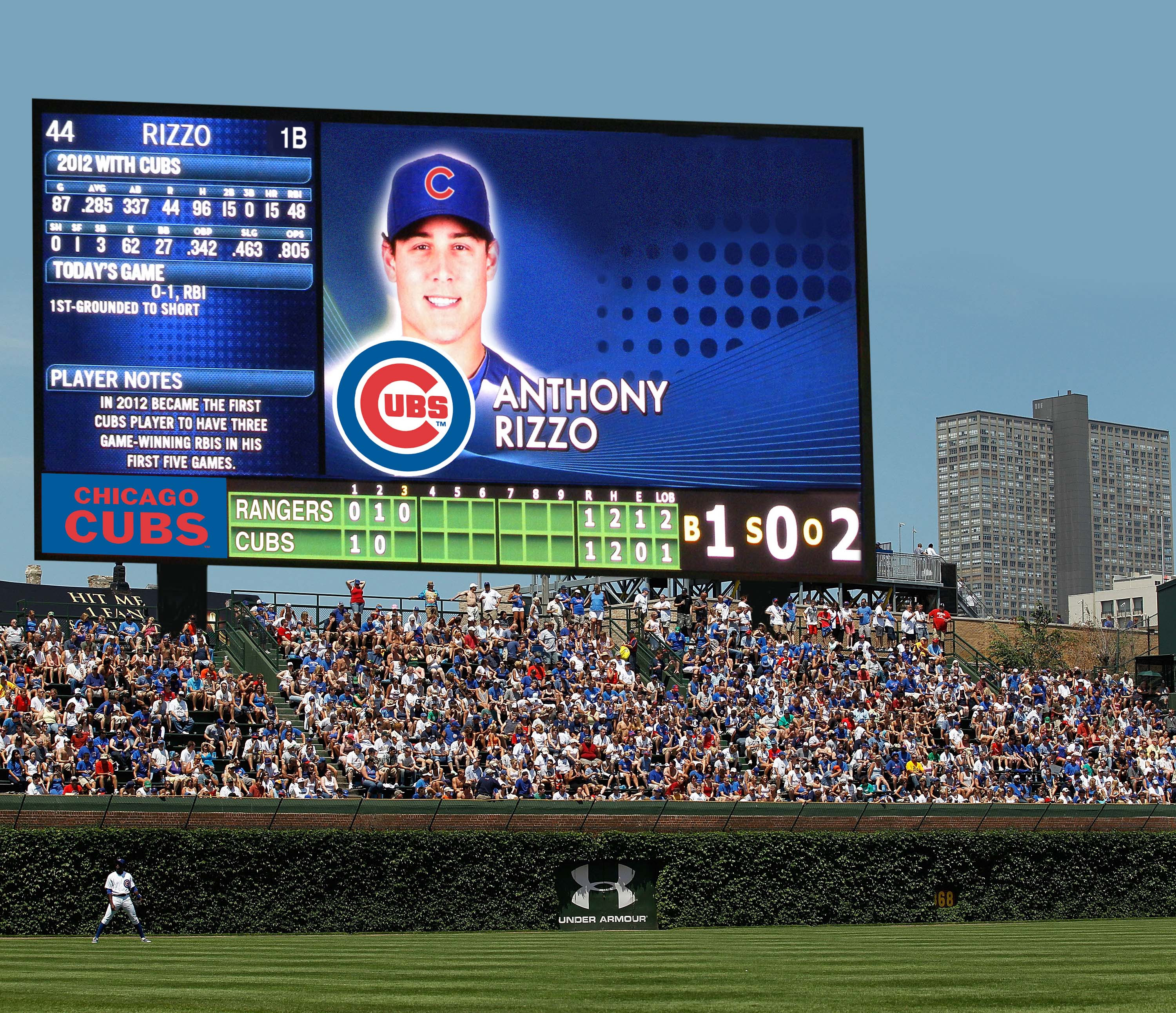 Just How Big Would That Wrigley Jumbotron Be Bleed Cubbie Blue