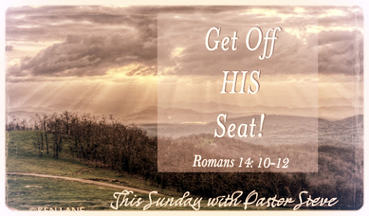 This Sunday with Pastor Steve