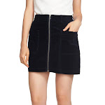 1.State Womens Corduroy Zip Front Mini Skirt Navy