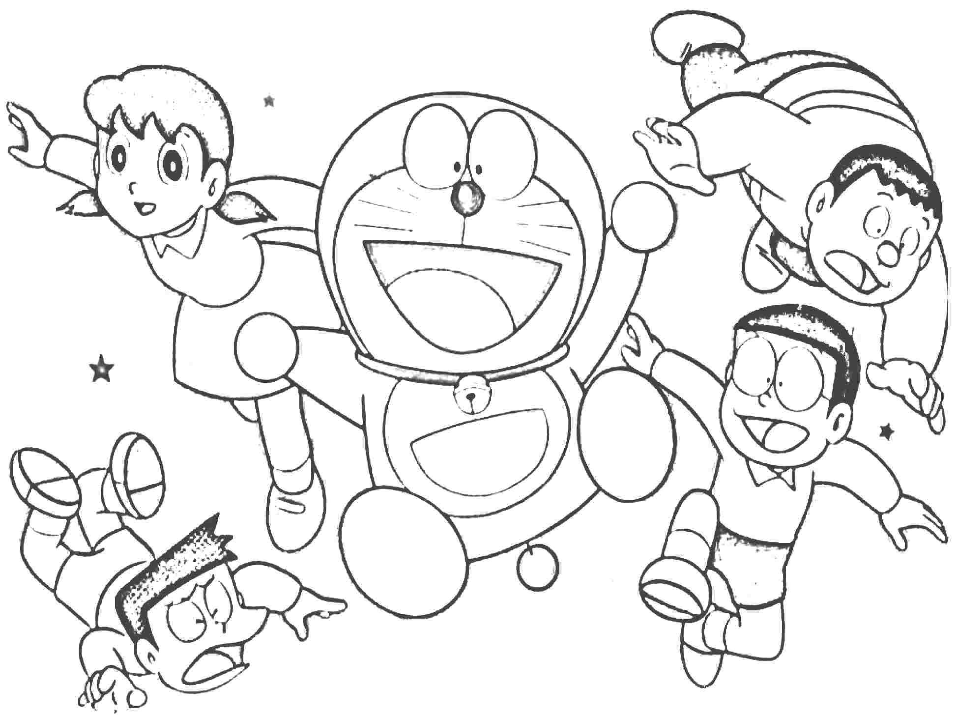 Cheerful Doraemon Coloring Book Makes Your Toddlers Love to Color  Coloring Pages For Toddlers