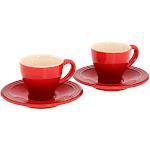 Le Creuset Espresso Cup Set For 2 | Cerise/cherry Red - PG8001-0967
