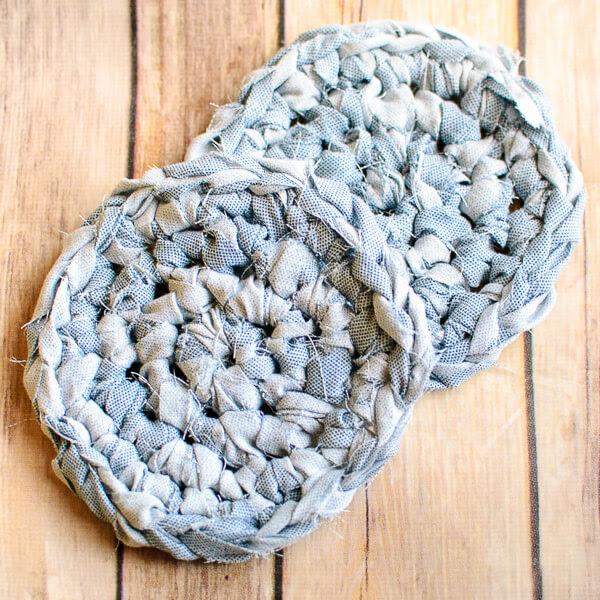 Fabric Coaster Crochet Pattern