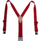 Perry Suspenders Men's Tall Elastic Hook End Suspenders, Red