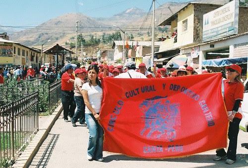 Marcha de taurinos en Canta, Lima
