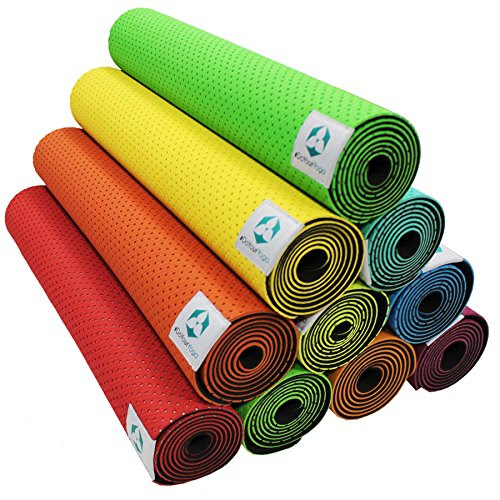»Suri« yoga mat / eco-friendly and hypo-allergenic TPE mat, soft and slip-resistant, ideal for all yoga teachers and yogis / Size: 183 x 61 x 0.5cm / meadow-green