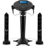 Singing Machine - Bluetooth Pedestal Karaoke System - Black