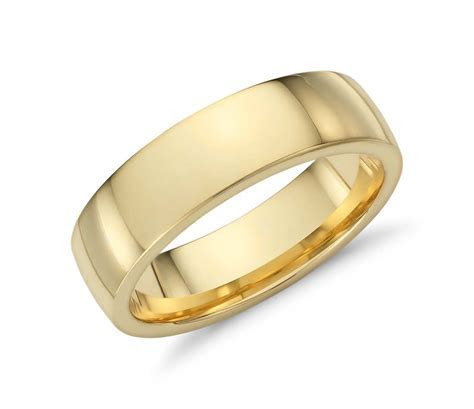 Low Dome Comfort Fit Wedding Ring in 18k Yellow Gold (6mm