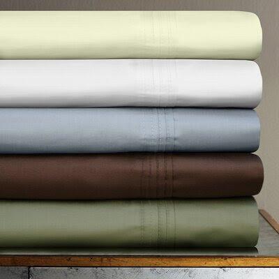 Tribeca Living 600 Thread Count 4-Piece Egyptian Cotton Sateen