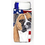 USA American Flag with Boxer Michelob Ultra s for slim cans CO713031