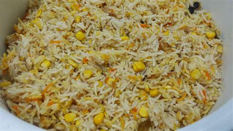 zulfaza loves cooking nasi jagung   spices chicken