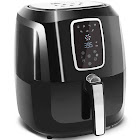 Elite Platinum Electric Digital Air Fryer Cooker - 5.5 qt - Black