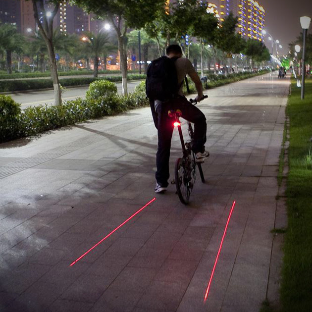 Laser Tail Light Bicycle Lane