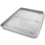 USA Pan 2-Piece Half Sheet & Baking Rack Set, Silver