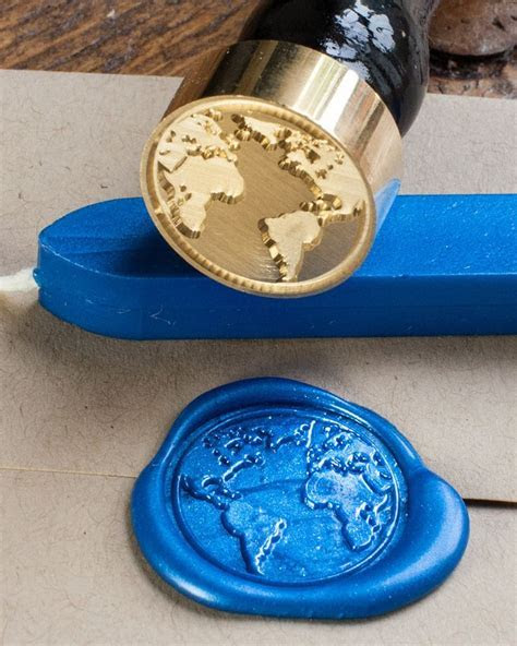 Planet Earth Wax Seal Kit   Wedding ring, Compass and