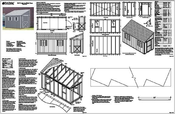 8 X 12 Lean To Shed Plans Free