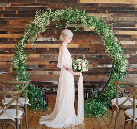 Circular arch   perfect wedding backdrop for the ceremony