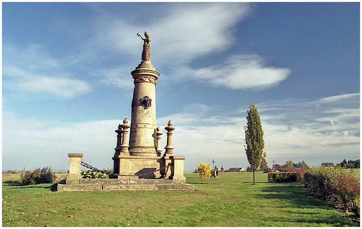 Memorial to Battery of the Death at Chlum commemorates one of heaviest fights during the Battle of Königgrätz