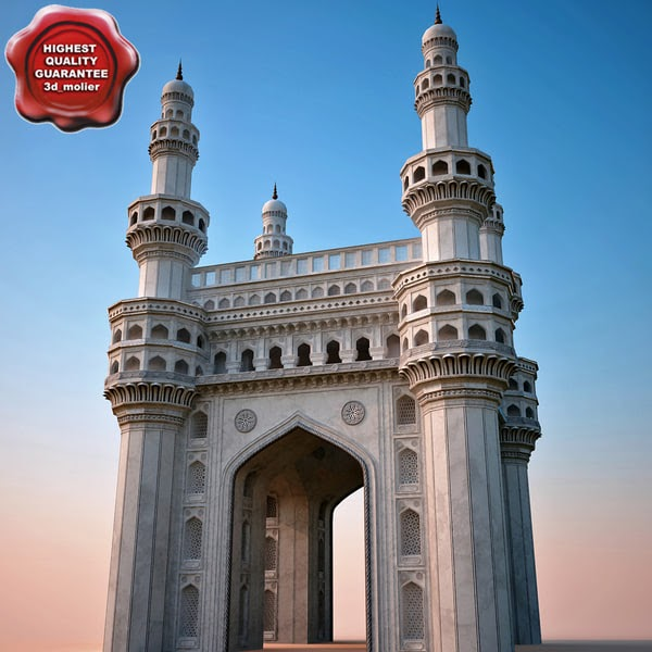 charminar by 3d molier  collection of 3d models by 3d molier